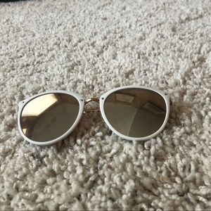 White Francesca's sunglasses